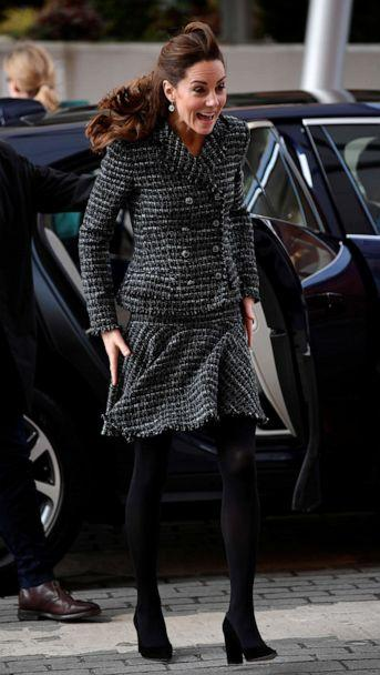 PHOTO: Britain's Catherine, Duchess of Cambridge, arrives for a visit to a National Portrait Gallery workshop at Evelina London Children's Hospital, in London, Jan. 28, 2020. (Toby Melville/Pool via Reuters)