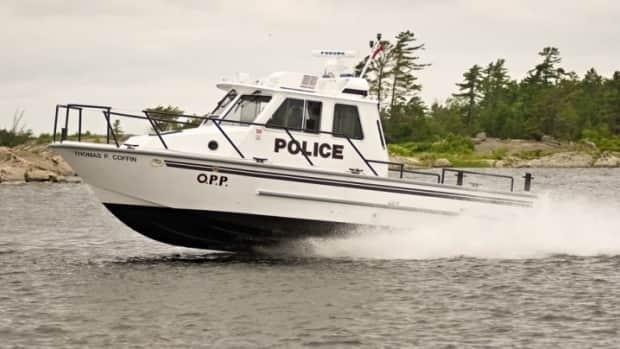 An OPP Marine Unit vessel is seen in a file photo. Lakeshore OPP say crews launched a search Sunday for a 58-year-old boater on Lake St. Clair. (OPP - image credit)