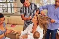 "Supermodel Gisele Bundchen believes breastfeeding should be a law. She told Harper's Bazaar UK, ""I think breastfeeding really helped me keep my figure. I think there should be a worldwide law, in my opinion, that mothers should breastfeed their babies for six months."""