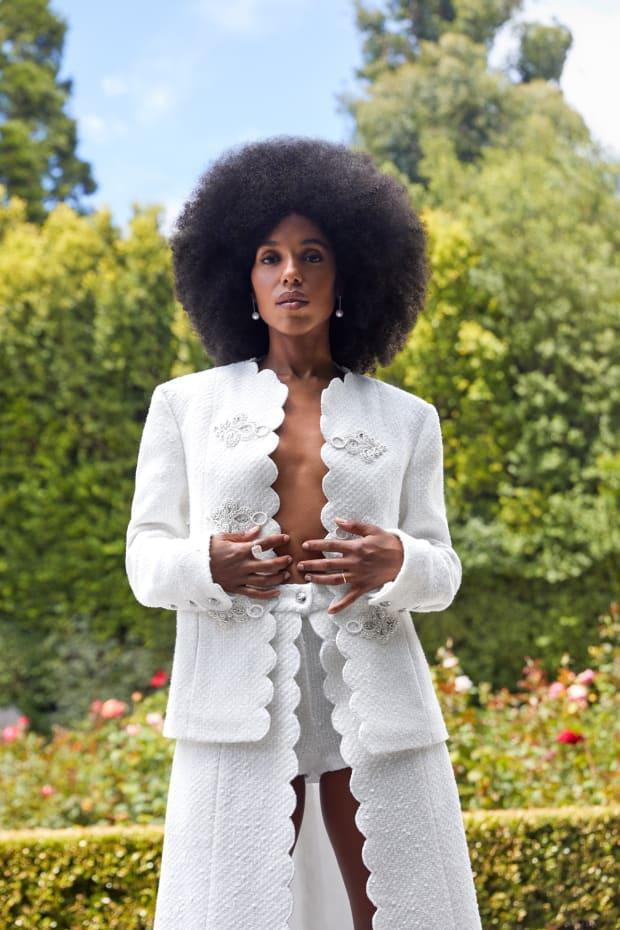 "<em>Kerry Washington in Chanel in the September issue of ""Town & Country.""</em>"