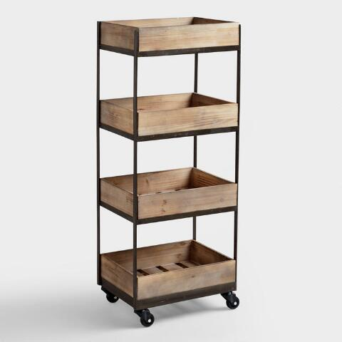 """<h2>World Market Galvin Rolling Cart</h2><br>What could be more convertible than furniture on wheels? Slide this mobile tiered cart next to a desk or a table to maximize storage space; let it live bedside as a nightstand, or scoot it beside the couch as a convenient accent table; heck, wheel it on into the kitchen and use it as a rustic bar cart for your burgeoning booze collection.<br><br><strong>Cost Plus World Market</strong> 4-Shelf Wooden Gavin Rolling Cart, $, available at <a href=""""https://go.skimresources.com/?id=30283X879131&url=https%3A%2F%2Fwww.worldmarket.com%2Fproduct%2Fwood%2B4%2Btier%2Bgavin%2Brolling%2Bcart.do"""" rel=""""nofollow noopener"""" target=""""_blank"""" data-ylk=""""slk:Cost Plus World Market"""" class=""""link rapid-noclick-resp"""">Cost Plus World Market</a>"""