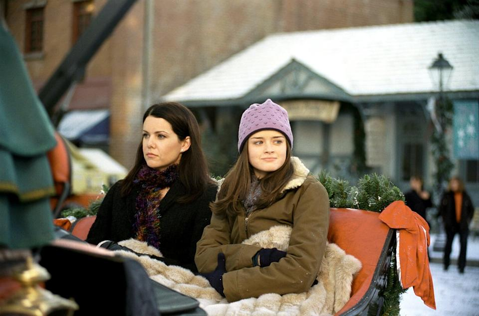 """<p>The Gilmore women talk fast, indulge in junk food, and always have each other's backs. In the world of family-centric TV shows, <strong><a class=""""link rapid-noclick-resp"""" href=""""https://www.popsugar.co.uk/Gilmore-Girls"""" rel=""""nofollow noopener"""" target=""""_blank"""" data-ylk=""""slk:Gilmore Girls"""">Gilmore Girls</a></strong> is top when it comes to depicting the intricate bonds that exist between mothers and their daughters. </p> <p>Watch <a href=""""https://www.netflix.com/title/70155618"""" class=""""link rapid-noclick-resp"""" rel=""""nofollow noopener"""" target=""""_blank"""" data-ylk=""""slk:Gilmore Girls""""><strong>Gilmore Girls</strong></a> on Netflix now.</p>"""