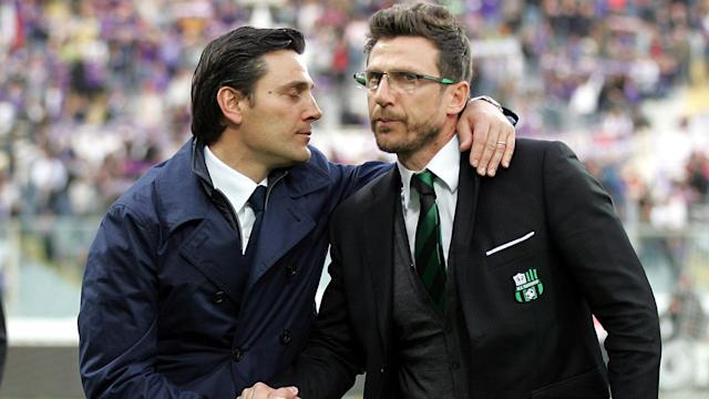 Former team-mates Eusebio Di Francesco and Vincenzo Montella hope their Roma and Sevilla sides will meet in the Champions League final.