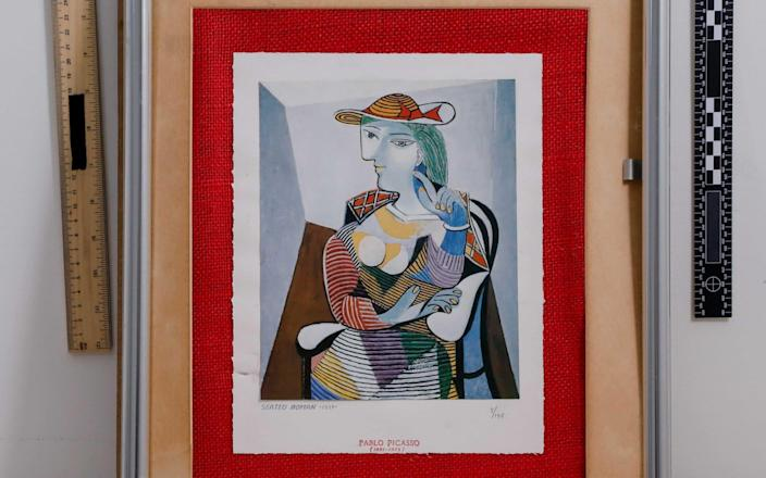 One of the Picasso paintings recovered by Los Angeles Police Department - LAPD