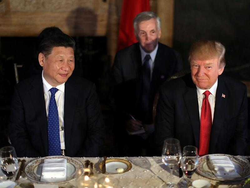 Donald Trump said he and the Chinese President were enjoying chocolate cake when he broke the news of the US air strikes against Syria to him: Reuters