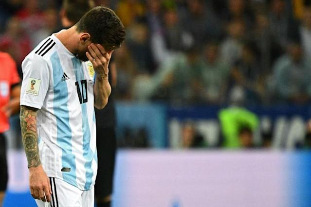 Argentina's Lionel Messi looks set for an early World Cup exit
