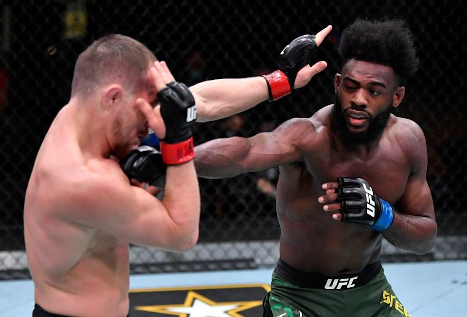 Petr Yan (left) will look to regain his bantamweight title from Aljamain Sterling in a rematch (Zuffa LLC via Getty Images)