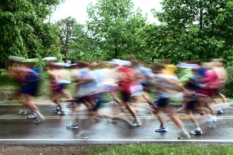 A file photo of runners in a race.