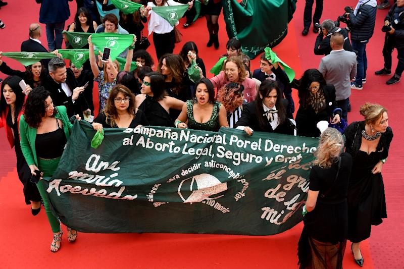 Green handkerchiefs are the symbol of Argentina's pro-abortion movement (AFP Photo/ANTONIN THUILLIER                   )