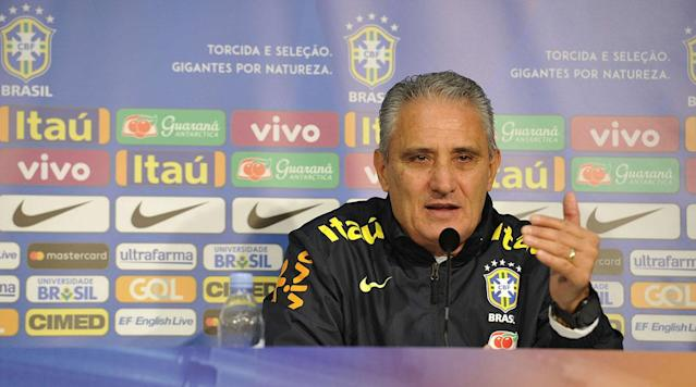 <p>RIO DE JANEIRO (AP) With Neymar out injured, Brazil coach Tite has brought in Real Sociedad striker Willian Jose for upcoming friendlies against Russia and Germany.</p><p>Other newcomers include Valencia goalkeeper Neto and Besiktas midfielder Talisca.</p><p>Tite said Monday that Neymar's absence will help Brazil learn to play without its main striker.</p><p>Brazil will face Russia in Moscow on March 23 and then play World Cup champion Germany in Berlin on March 27. That will be the first match between the two since the Germans routed Brazil 7-1 in the 2014 World Cup semifinals.</p><p><strong>Full Squad:</strong></p><p><strong>Goalkeepers: Alisson (Roma), Neto (Valencia), Ederson (Manchester City)</strong></p><p><strong>Defenders: Daniel Alves (Paris Saint-Germain), Marquinhos (Paris Saint-Germain), Thiago Silva (Paris Saint-Germain), Marcelo (Real Madrid), Fagner (Corinthians), Filipe Luis (Juventus), Miranda (Inter Milan), Pedro Geromel (Gremio), Rodrigo Caio (Sao Paulo)</strong></p><p><strong>Midfielders: Casemiro (Real Madrid), Fernandinho (Manchester City), Fred (Shakthar Donetsk), Paulinho (Barcelona), Renato Augusto (Beijing Guoan), Anderson Talisca (Besiktas), Philippe Coutinho (Barcelona), Willian (Chelsea)</strong></p><p><strong>Strikers: Douglas Costa (Juventus), Taison (Shakhtar Donetsk), Gabriel Jesus (Manchester City), Roberto Firmino (Liverpool), Willian Jose (Real Sociedad)</strong></p>