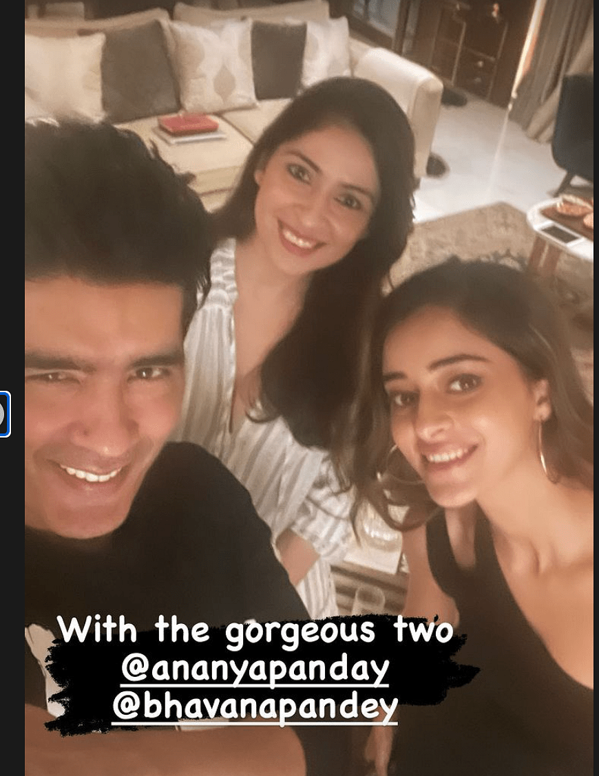 """<div class=""""paragraphs""""><p>Manish with Ananya and Bhavna Pandey.</p></div>"""