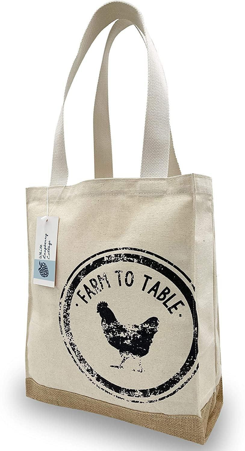<p>This <span>Natural Canvas &amp; Jute Grocery Shopping Bag</span> ($13) is ideal for carrying groceries. </p>