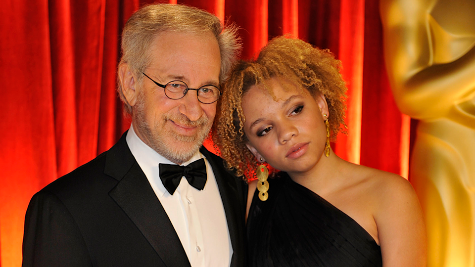 Steven Spielberg and daughter Mikaela who is now an adult actress
