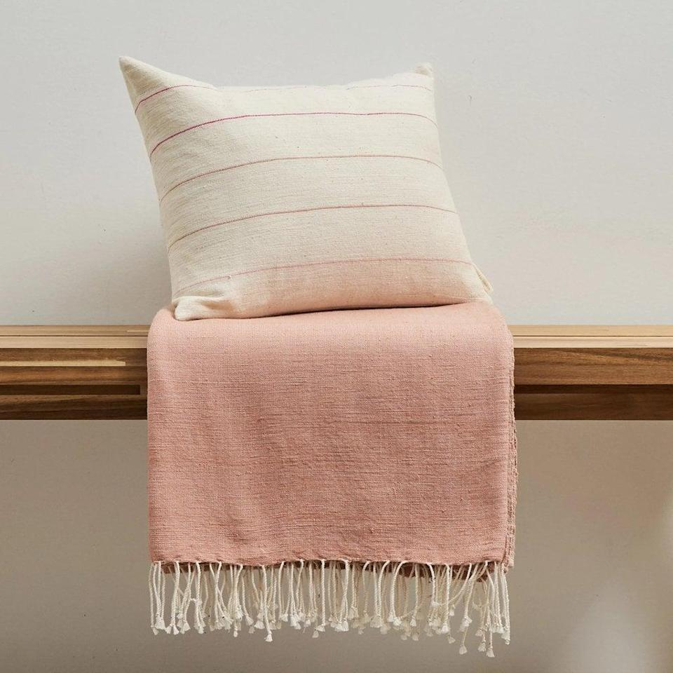 <p>This <span>Pillow + Throw Combo</span> ($300) is a perfect pairing.</p>