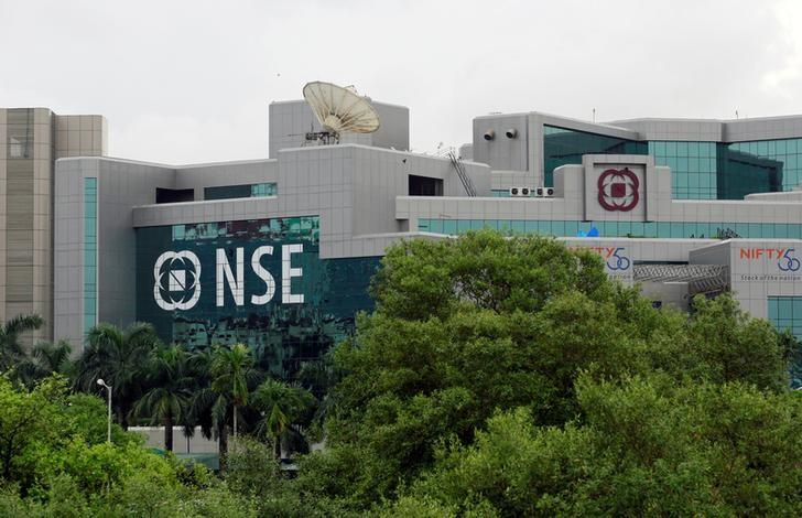 A NSE (National Stock Exchange) building is seen in Mumbai