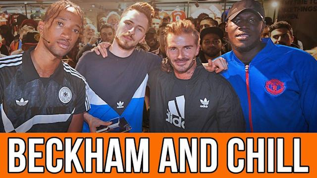 David Beckham and Stormzy join Poet and Vuj for the re-opening of the Adidas store on Oxford Street, as well as the launch of the new Man United away kit. Becks and Stormzy chat about their love for United, the new kit, chilling with Snoop Dogg and much more! Subscribe to Copa90: http://bit.ly/Copa90Subscribe Big thanks to AdidasUK for helping make this happen! Music Licensed By Cue Songs Pause-It Keeps On Raining Lushlife-Another Word For Paradise (Inst) Pause-Look At Me Now (Inst) Check out our new website: http://bit.ly/Copa90 About Copa90: At Copa90 we believe that football is more than a game. It has the power to unite people from all walks of life in a way that nothing else does. We're on a mission to reclaim football for the fans by creating the home of global football culture: for football fans, by football fans. We tell the stories, hero the characters and host the conversations that really matter. We are Copa90, the voice of fans around the world, and we're taking our ball back. Get on board. The Game Never Stops The best football videos on YouTube. Subscribe now! Youtube Channel - http://bit.ly/Copa90YT Twitter - http://bit.ly/Copa90TW Instagram - http://bit.ly/1Lx2Eny Facebook - http://bit.ly/Copa90FB Google+ - http://bit.ly/Copa90G Snapchat - copa90official Leave us a comment below!