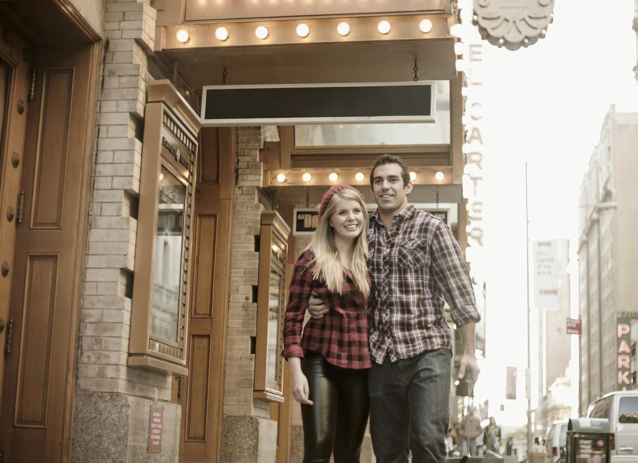 <p>No need to shell out big bucks on a Broadway show; instead, look for something put on by an independent theater group. Afterwards, you can talk about how you both loved it...or share your criticisms.</p>