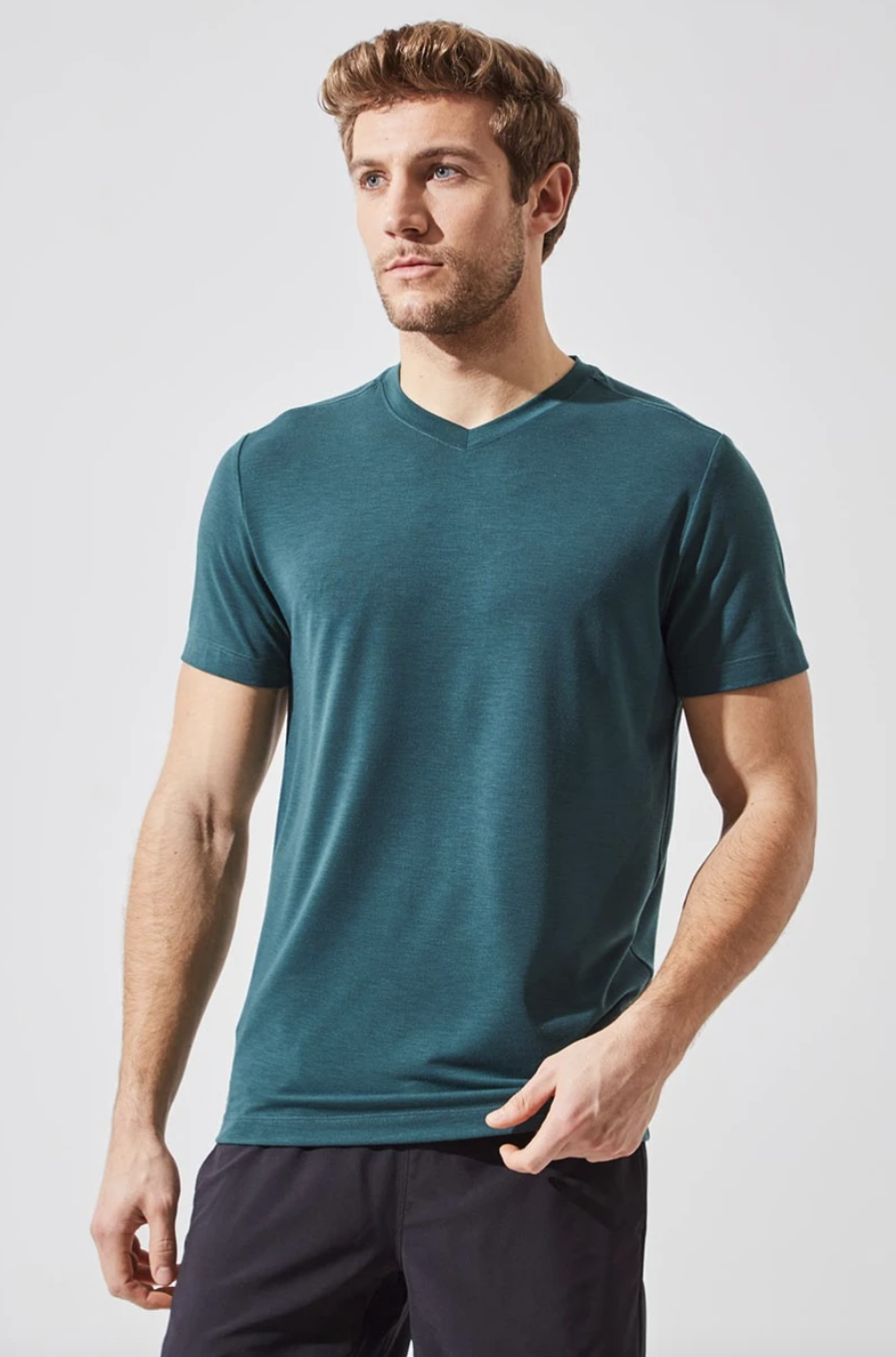 Condition Recycled Polyester Stink-Free Tee in Ultramarine Green (Photo via MPG)