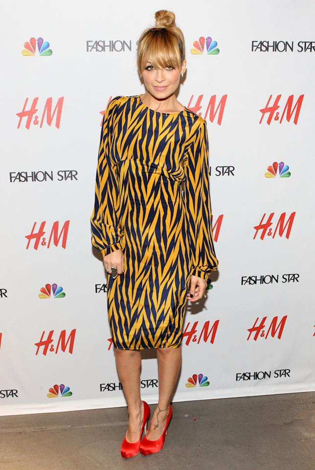 "Nicole Richie attends the NBC ""<a target=""_blank"" href=""http://tv.yahoo.com/fashion-star/show/47285"">Fashion Star</a>"" event at the H&M Flagship Store on April 24, 2012 in New York City."