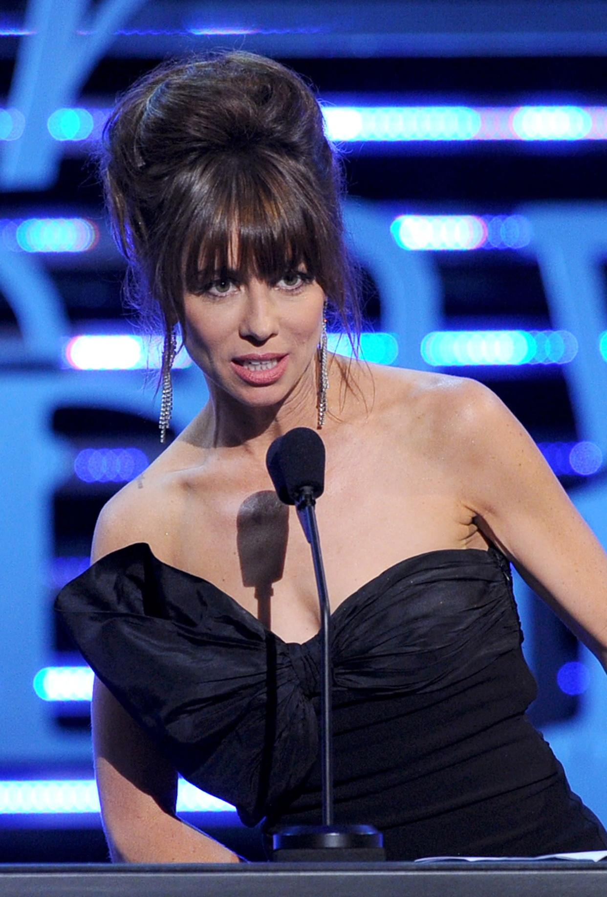 CULVER CITY, CA - AUGUST 25: Actress Natasha Leggero speaks onstage during The Comedy Central Roast of James Franco at Culver Studios on August 25, 2013 in Culver City, California. The Comedy Central Roast Of James Franco will air on September 2 at 10:00 p.m. ET/PT. (Photo by Kevin Winter/Getty Images for Comedy Central)