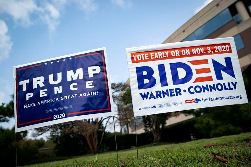 FILE PHOTO: FILE PHOTO: People vote at an early voting site in Fairfax, Virginia