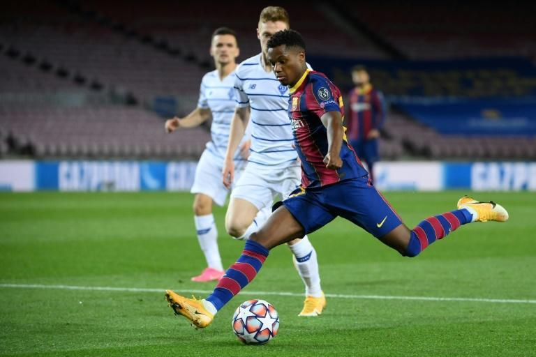 Ansu Fati will be out until next year after injuring his knee in Barcelona's win over Betis at the weekend