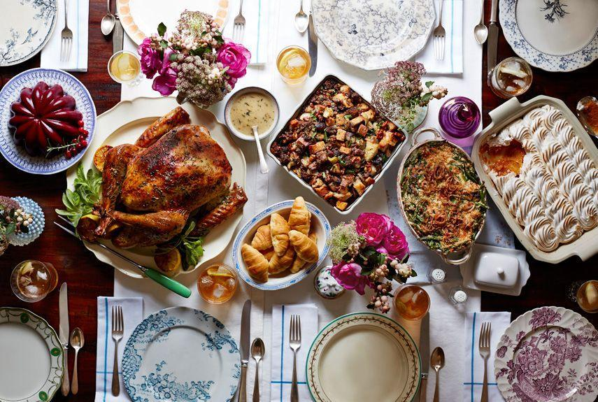 """<p>Pull out the vintage china! We added a few fresh twists to time-tested staples, from green bean casserole to cranberry sauce, for a retro meal rooted in nostalgia. Oh, and don't forget to queue up an <a href=""""https://www.countryliving.com/life/g4292/classic-country-songs/"""" rel=""""nofollow noopener"""" target=""""_blank"""" data-ylk=""""slk:old-school playlist"""" class=""""link rapid-noclick-resp"""">old-school playlist</a> to match.</p><p><strong>Main Course:</strong></p><p><a href=""""https://www.countryliving.com/food-drinks/recipes/a5944/herb-citrus-butter-roasted-turkey-recipe-clx1114/"""" rel=""""nofollow noopener"""" target=""""_blank"""" data-ylk=""""slk:Herb and Citrus Butter Roasted Turkey"""" class=""""link rapid-noclick-resp"""">Herb and Citrus Butter Roasted Turkey</a></p><p><strong>Sides:</strong></p><p><a href=""""https://www.countryliving.com/food-drinks/recipes/a5271/apple-walnut-stuffing-recipe-clx1114/"""" rel=""""nofollow noopener"""" target=""""_blank"""" data-ylk=""""slk:Apple-Walnut Stuffing"""" class=""""link rapid-noclick-resp"""">Apple-Walnut Stuffing</a></p><p><a href=""""https://www.countryliving.com/food-drinks/recipes/a5865/maple-meringue-potato-casserole-recipe-clx1114/"""" rel=""""nofollow noopener"""" target=""""_blank"""" data-ylk=""""slk:Maple Meringue Sweet Potato Casserole"""" class=""""link rapid-noclick-resp"""">Maple Meringue Sweet Potato Casserole</a></p><p><a href=""""https://www.countryliving.com/food-drinks/recipes/a5868/green-bean-casserole-fried-shallots-recipe-clx1114/"""" rel=""""nofollow noopener"""" target=""""_blank"""" data-ylk=""""slk:Green Bean Casserole with Fried Shallots"""" class=""""link rapid-noclick-resp"""">Green Bean Casserole with Fried Shallots</a></p><p><a href=""""https://www.countryliving.com/food-drinks/recipes/a5912/rosemary-cranberry-sauce-recipe-clx1114/"""" rel=""""nofollow noopener"""" target=""""_blank"""" data-ylk=""""slk:Rosemary-Port Cranberry Sauce"""" class=""""link rapid-noclick-resp"""">Rosemary-Port Cranberry Sauce</a></p><p><strong>Desserts:</strong></p><p><a href=""""https://www.countryliving.com/food-drinks/recipes/a5870/chocolate-brown-sugar-butter-c"""