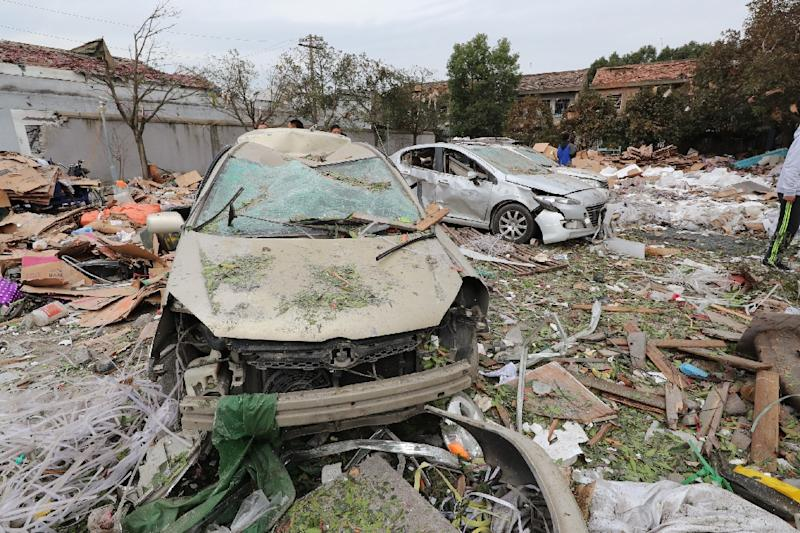 The blast hit a crumbling light-industrial area in Ningbo in China's eastern Zhejiang province (AFP Photo/STR)