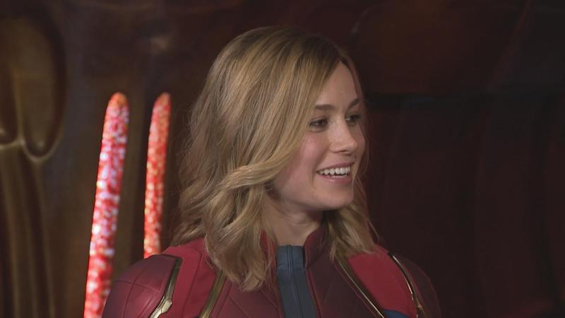 Brie Larson S Emotional Reaction To Putting On Her Captain Marvel