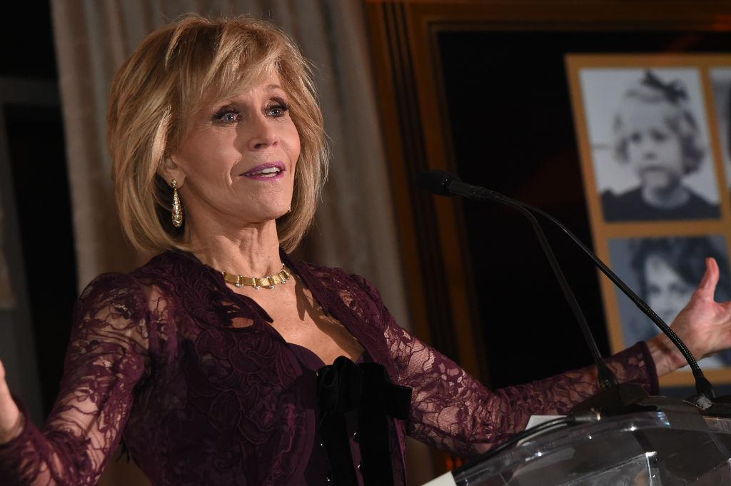 "<p><strong>Dec. 9, 2017</strong><br />Actress Jane Fonda turned 80 on Dec. 21, but she refuses to let age impact her style choices. The legendary beauty recently celebrated her upcoming landmark birthday at the fundraiser ""Eight Decades of Jane"" held at The Whitley in Atlanta, Ga. In addition to raising $1.3 million for her charity — the Georgia Campaign for Adolescent Power and Potential (GCAPP) — Fonda celebrated the event in a form-fitting Elie Saab pantsuit. <strong>(Click through for more photos).</strong> <em>(Photo: Getty)</em> </p>"