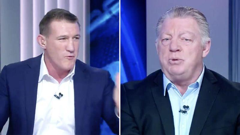 Paul Gallen and Phil Gould can't seem to agree on the obstruction rule. Pic: Ch9