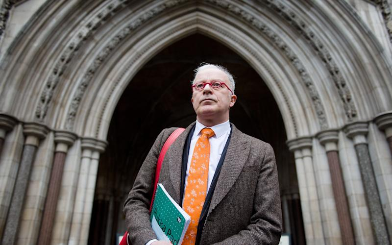 "Disgraced lawyer Phil Shiner, who led the ""witch hunt"" against Iraq war veterans that cost the British taxpayer £100 million, has declared himself bankrupt. - AFP/AFP"