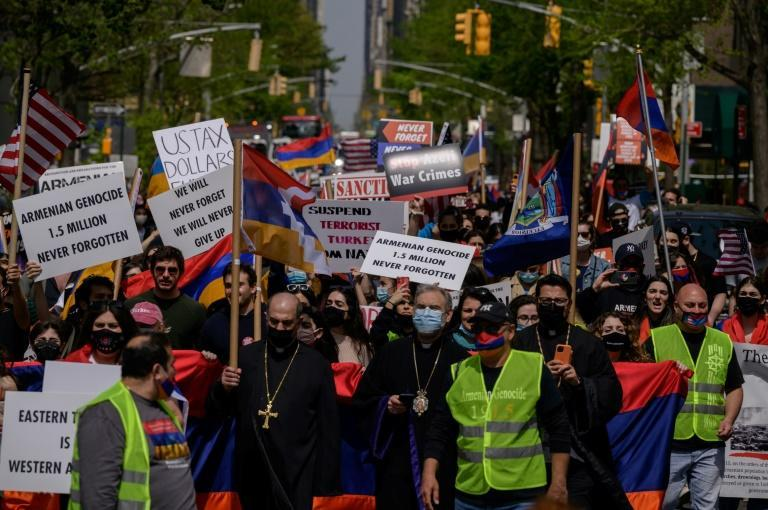 Marchers in New York marked the memory of the World War I-era killings of Armenians