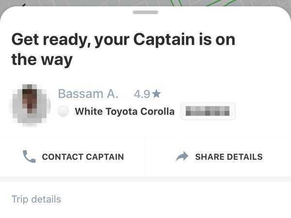 Bassam had a Toyota Corolla, one of the most popular cars for Careem and Uber drivers in Riyadh.