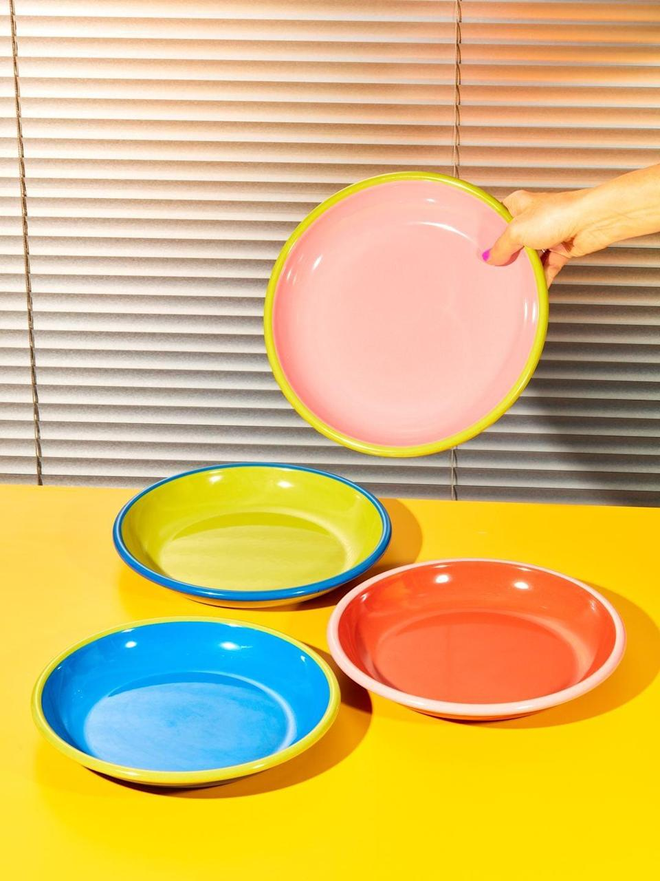 <p>These <span>Colorama Plates</span> ($22 each) will add some color and fun to your everyday plates.</p>