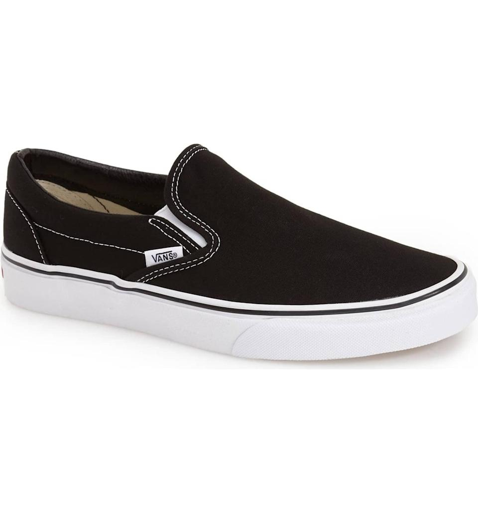 <p>You can't go wring with these <span>Vans Classic Slip-Ons</span> ($50).</p>