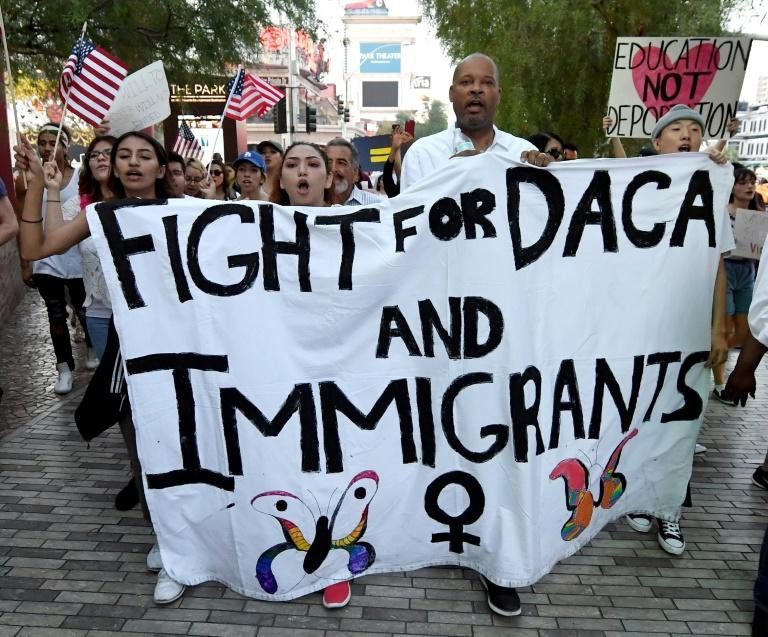 """Trump's predecessor Barack Obama protected such immigrants, known as """"dreamers,"""" through his Deferred Action for Childhood Arrivals (DACA) order"""