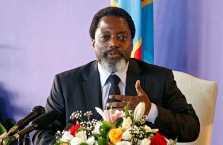 Democratic Republic of Congo's President Joseph Kabila addresses a news conference at the State House in Kinshasa