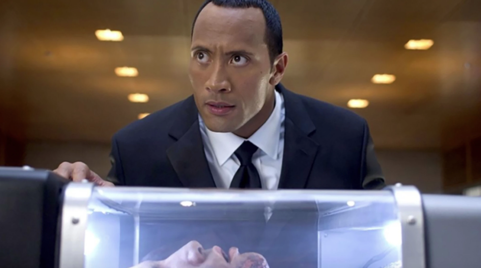 Dwayne Johnson in Southland Tales (credit: Universal)