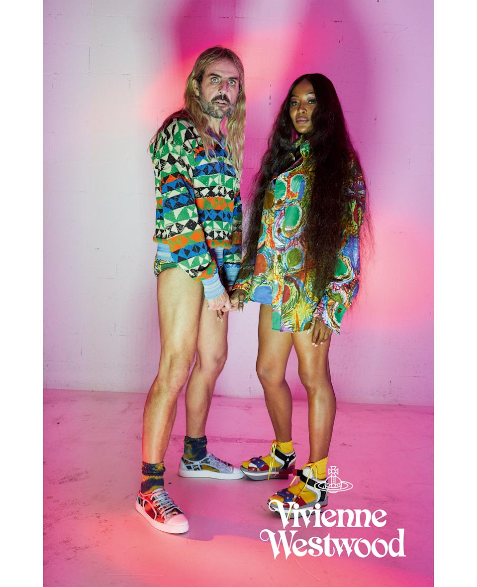 Naomi Campbell and Andreas Kronthaler in the latest Vivienne Westwood campaign. [Photo: Vivienne Westwood]