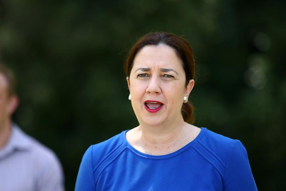 Queensland Premier Annastacia Palaszczuk confirmed the border crackdown in a press conference on Tuesday. Source: AAP