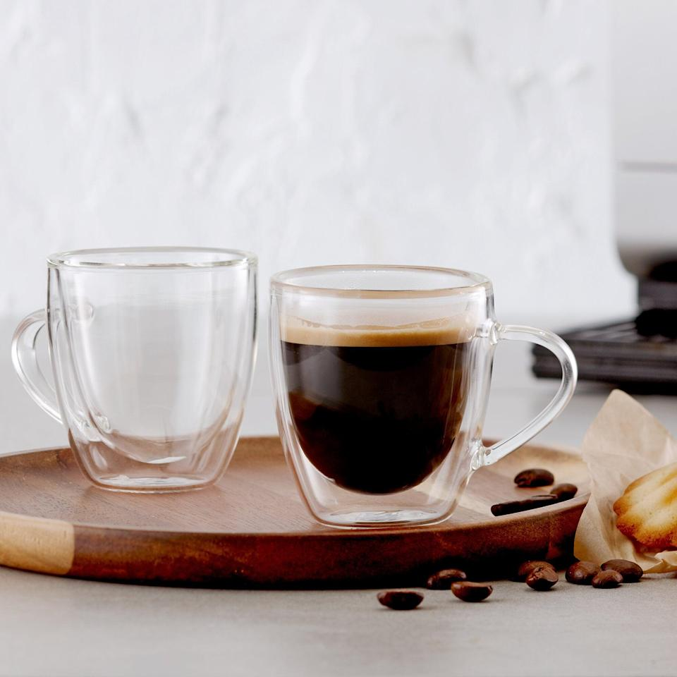 <p>They'll love drinking their morning brew from these stylish <span>Solem Double Wall Espresso Cups</span> ($17 for four, originally $30).</p>