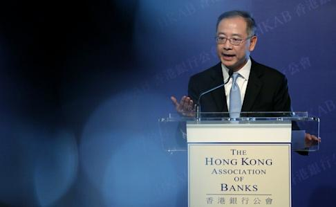 HKMA chief executive Eddie Yue Wai-man tell bankers not to be worried about the national security law. Photo: Nora Tam