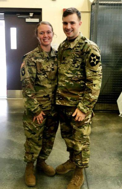 PHOTO: Newlyweds Robert Musso and Frances Denmark met while serving in the military. (Robert Musso & Frances Denmark)