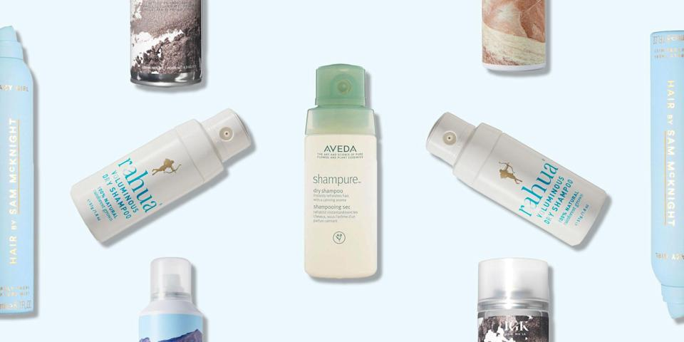 """<p>Dry shampoo is the second day, greasy hair saviour, that honestly, we don't know how we lived without before it existed. </p><p>Transforming lank, limp locks into a fresh, bouncy blowdry that could convince anyone you actually bothered to wash it, dry shampoo is every 'one wash a week' woman's go-to product. </p><p>Whether you're shower-free at a festival or just need a post-commute freshen up (a spritz under your <a href=""""https://www.elle.com/uk/beauty/hair/a19642792/tips-and-tricks-for-getting-a-fringe-hairstyle/"""" rel=""""nofollow noopener"""" target=""""_blank"""" data-ylk=""""slk:fringe"""" class=""""link rapid-noclick-resp"""">fringe</a> works wonders), dry <a href=""""https://www.elle.com/uk/beauty/hair/a22130/product-review-volumising-shampoos-and-conditioners/"""" rel=""""nofollow noopener"""" target=""""_blank"""" data-ylk=""""slk:shampoo"""" class=""""link rapid-noclick-resp"""">shampoo</a> is the multi-tasking hair product we love.</p><p>Our pro dry shampoo tip? As well as using it between washes to freshen up greasy roots, dry shampoo can also be a <a href=""""https://www.elle.com/uk/beauty/hair/a32093932/how-to-do-a-messy-bun/"""" rel=""""nofollow noopener"""" target=""""_blank"""" data-ylk=""""slk:messy bun's"""" class=""""link rapid-noclick-resp"""">messy bun's</a> best friend. Simply spritz into roots before styling for an injection of cool girl texture that doubles up as helpful grip to keep your top knot in place all day long. Genius!</p><p>Check out our edit of the best dry shampoos ever and have squeaky clean (but totally effort-free) hair 24/7.</p>"""