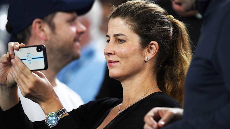 Mirka Federer, pictured here taking photos of husband Roger at the Australian Open.