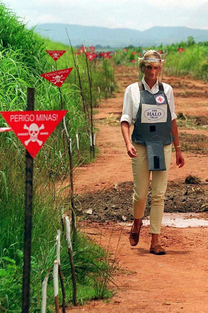 Diana, Princess of Wales, walked through a minefield cleared by the Halo Trust in 1997 (PA Archive/PA Images)