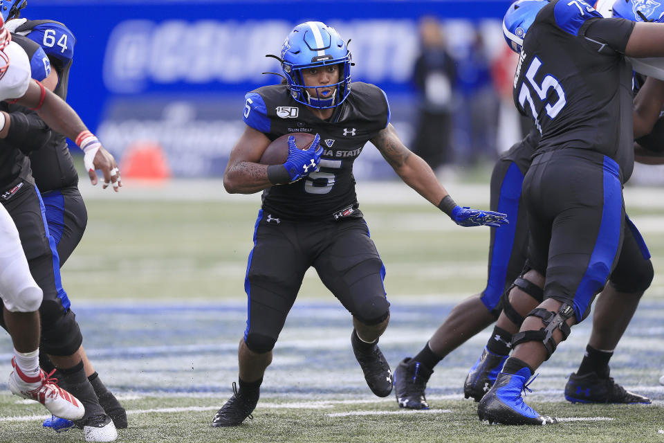 Tra Barnett has rushed for over 1,000 yards in 2019 for Georgia State. (Photo by David John Griffin/Icon Sportswire via Getty Images)