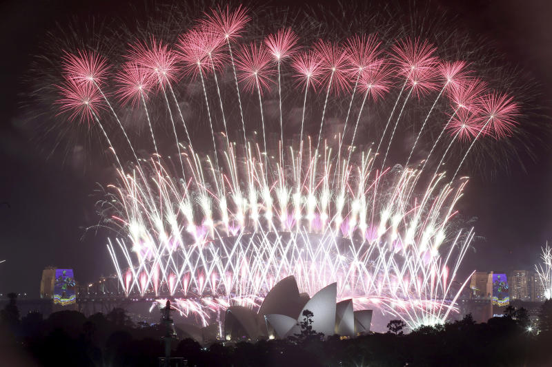 New Year's Eve fireworks show in Sydney pictured here in 2017.