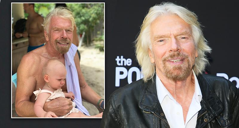 Richard Branson: The Virgin business magnate shows off a new look (inset). [Photo: Getty/Instagram]